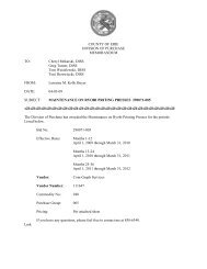 COUNTY OF ERIE DIVISION OF PURCHASE MEMORANDUM TO ...