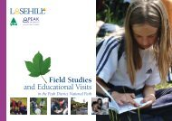 Field Studies and Educational Visits - Peak District National Park ...