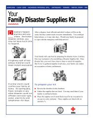 Your Family Disaster Supplies Kit - the City of Culver City