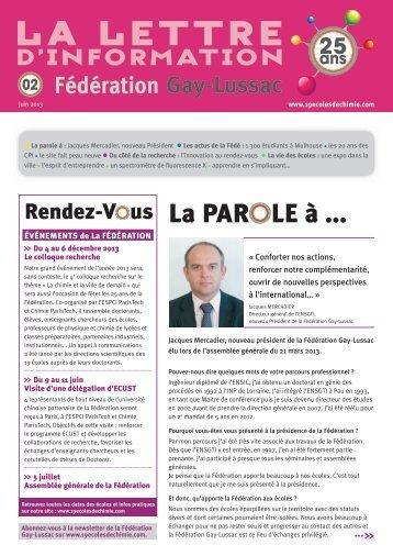 La PARO LE à ... - Fédération Gay-Lussac