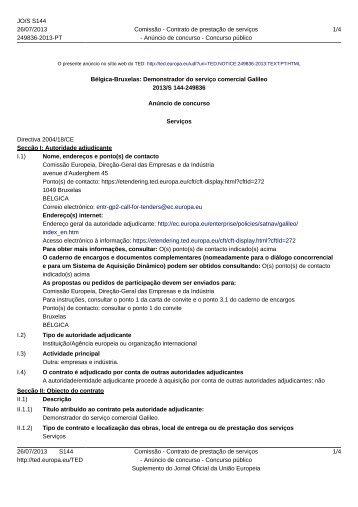 Bélgica-Bruxelas: Demonstrador do serviço comercial ... - Infoeuropa