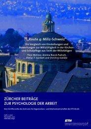 Ein Vergleich von Einstellungen und ... - PdA - ETH Zürich