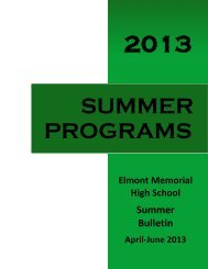 2013 Summer Bulletin - Sewanhaka Central High School District