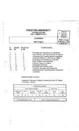 Leadership - Preston University