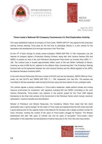 Timor-Leste's government - La'o Hamutuk