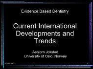 Evidence Based Dentistry - Asbjorn Jokstad, Professor, Faculty of ...
