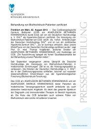Behandlung von Bluthochdruck-Patienten zertifiziert - AGAPLESION ...