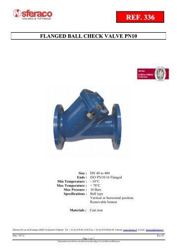 flanged ball check valve pn10
