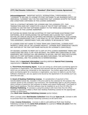 Read license - Fontworks UK Ltd