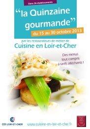 """""""la Quinzaine gourmande"""" - (CCI) de Loir et Cher"""