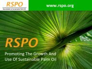RSPO - American Palm Oil Council
