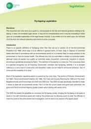 legislation - Keep Britain Tidy