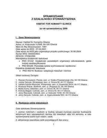 sprawozdanie z działalności - Wyszukiwanie Organizacji Pożytku ...