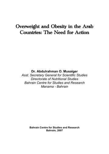 Overweight and Obesity in the Eastern Mediterranean Region: can ...