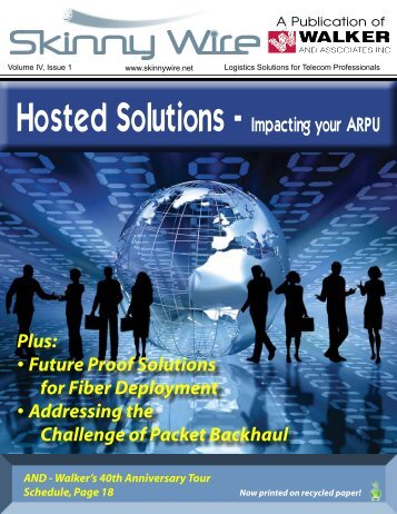 Hosted Solutions - Impacting your ARPU - Walker and Associates