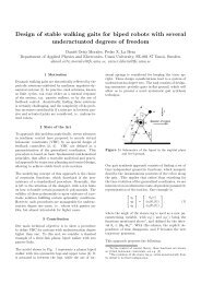 Design of stable walking gaits for biped robots with several ...