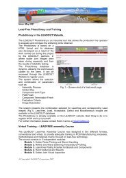 Lead-Free Photolibrary and Training Photolibrary in the ... - EWF