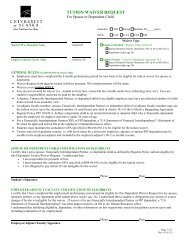 Dependent Tuition Waiver Form