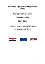 IPA - Ministarstvo regionalnoga razvoja i fondova Europske unije