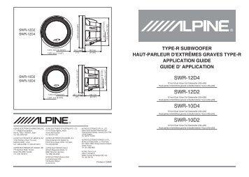 ALPINE_2011_Alpine SWR Manual_120224_JY ... - Alpine Europe
