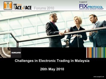 Challenges in Electronic Trading in Malaysia 26th ... - Plus Concepts