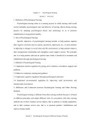 Chapter 11 Psychological Nursing