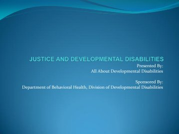 justice and developmental disabilities - Administrative Office of the ...