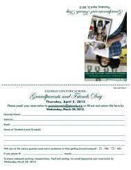 Grandparents and Friends Day - Glenelg Country School