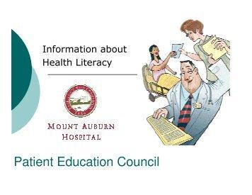 Patient Education Council - CareGroup Portal