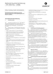 Elektronik-Pauschal-Versicherung – EPV 2003 Plus – (2008)