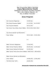 2011-2012 Eğitim-Öğretim Yılı Lisans ... - Eğitim Fakültesi