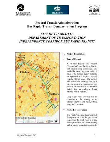 Federal Transit Administration Bus Rapid Transit Demonstration ...
