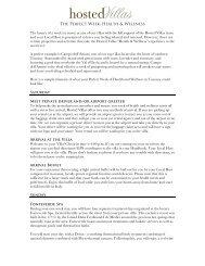 Sample Perfect Week Itinerary - Health & Wellness.pdf - Hosted Villas