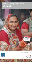 Directory of the Business correspondents in India - Microfinance ...