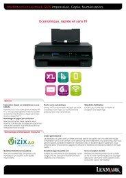 Multifonction Lexmark S315 Impression. Copie. Numérisation ...