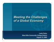 Meeting the Challenges of a Global Economy Meeting the ...