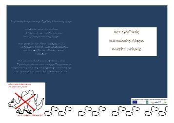 Das Geopark Schulprogramm 2012/2013 - Geopark Karnische Alpen