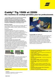 Caddy® Tig 1500i e et 2200i
