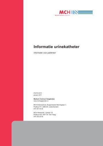 Informatie urinekatheter - Medisch Centrum Haaglanden