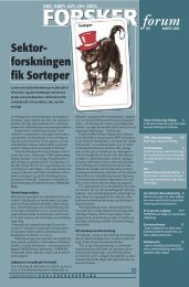Sektor- - FORSKERforum