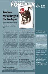 Sektor- - FORSKERforum