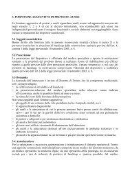 3. FORNITURE AGGIUNTIVE DI PROTESI E AUSILI Le forniture ...