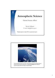 Atmospheric Science - Regional Climate Group