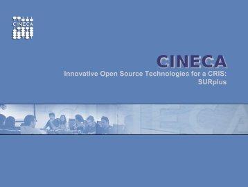 SURplus - Innovative Open Source Technologies for - EuroCRIS