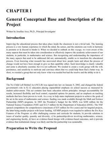 CHAPTER I General Conceptual Base and Description of ... - Alacima