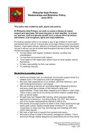 Pitteuchar East Primary Relationships and Behaviour ... - Home Page