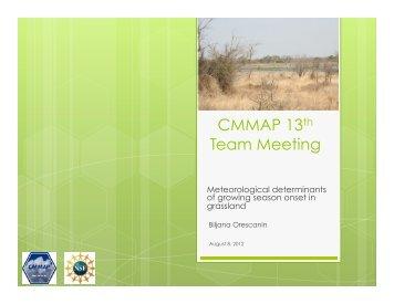 Prognostic Phenology - cmmap