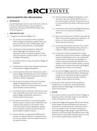 regolamento del programma - RCI.com