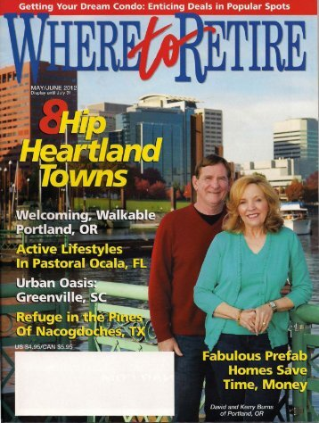 Greenville is Spotlighted...Where to Retire Magazine. May/June 2012