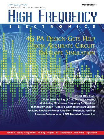 4g pa design gets help 4g pa design gets help - AWR Corporation